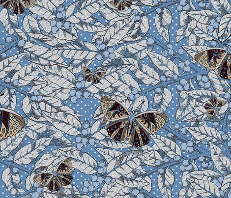 Butterflies fabric by monarch_design_studio on Spoonflower - custom fabric