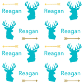 personalized deer head fabric