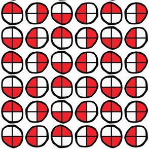 Circles Divided into Fourths