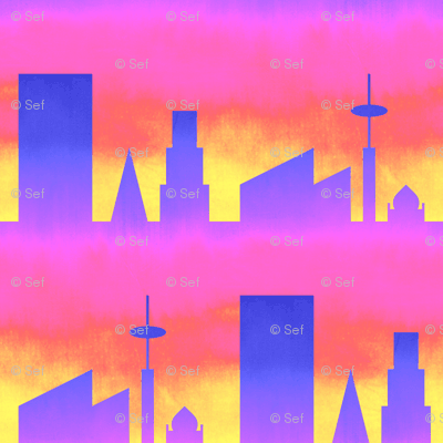 06497992 : city : painting the town psychedelic