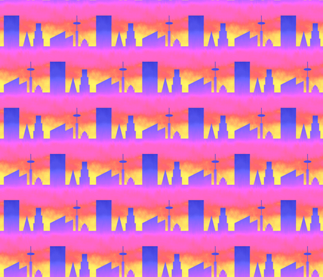 06497992 : city : painting the town psychedelic fabric by sef on Spoonflower - custom fabric