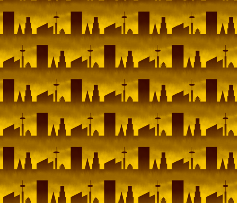 06497994 : city : golden dawn industrial age fabric by sef on Spoonflower - custom fabric