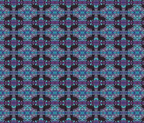 Black Cats Groovy Purple Blue fabric by peaceofpi on Spoonflower - custom fabric