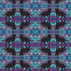 Black Cats Groovy Purple Blue