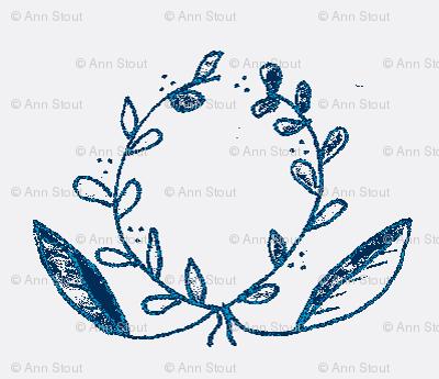 wreath indigo positive
