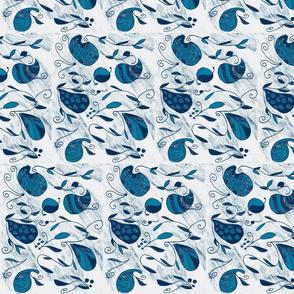 Paisley Swirl indigo tones-