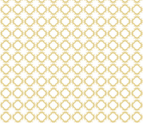 Gold Love Medallions fabric by vivaeris_designs on Spoonflower - custom fabric