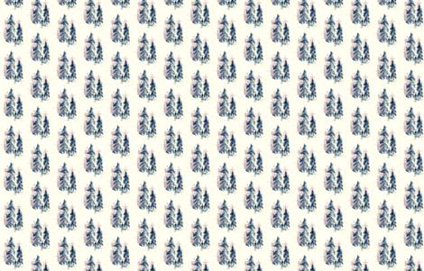 Coastal_Trees fabric by wildflowerfabrics on Spoonflower - custom fabric