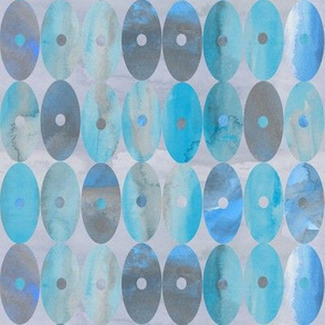 Beautiful, Blue and Grey Watercolor Oval Stripes