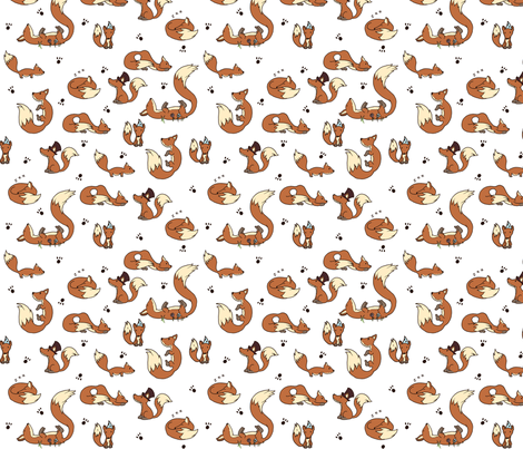 Little Foxes  fabric by svaeth on Spoonflower - custom fabric