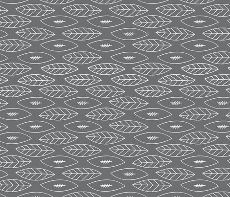 Tea Towel - Leaves on Gray fabric by ximena_designs on Spoonflower - custom fabric