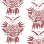 arrow owl red white