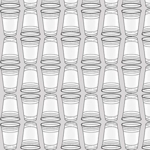 Flip Cup Plastic Cup pattern in Dove Gray