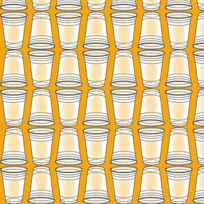 Flip Cup Plastic Cup pattern in Golden Yellow