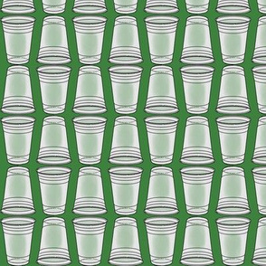 Flip Cup Plastic Cup pattern in Green