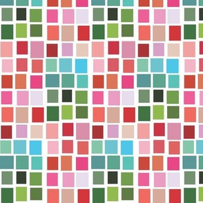 Pink and Green Swatch Mosaic