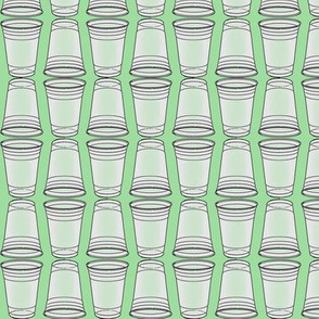 Flip Cup Plastic Cup pattern in Mint