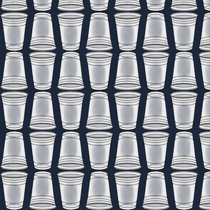 Flip Cup Plastic Cup pattern in Navy Blue
