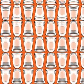 Flip Cup Plastic Cup pattern in Orange