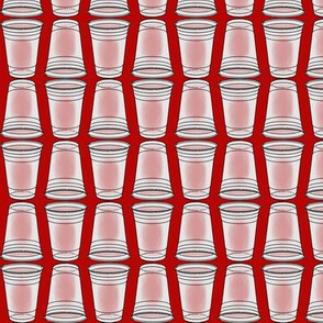 Flip Cup Plastic Cup pattern in Red