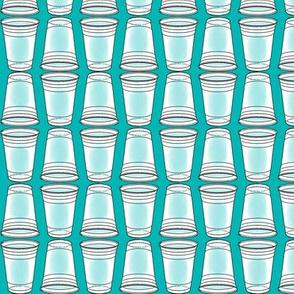 Flip Cup Plastic Cup pattern in Seafoam