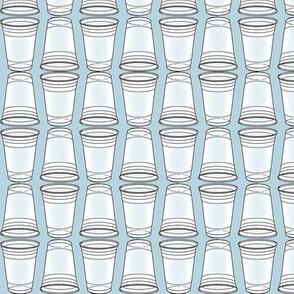 Flip Cup Plastic Cup pattern in a light Sky Blue