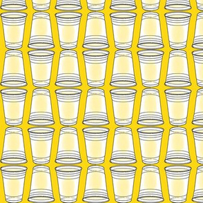 Flip Cup Plastic Cup pattern in Yellow