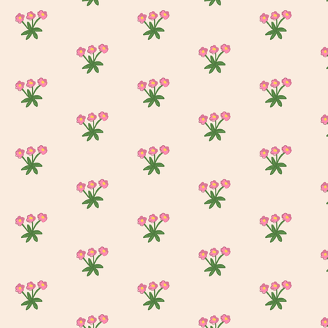 Pokey Little Hedgehog -Small Flower  fabric by franbail on Spoonflower - custom fabric