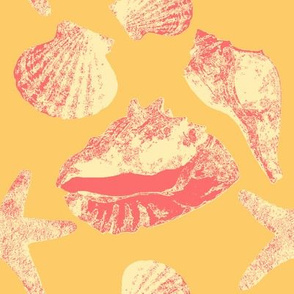 SAGE Beach Shells Pink on Gold