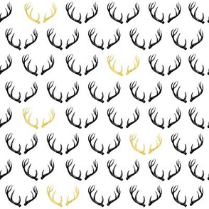 Antlers Gold & White