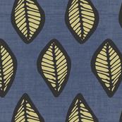 Leaves - Indigo Linen