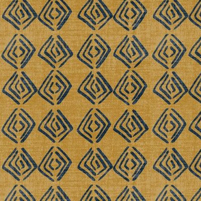 Ethnic Diamond - Navy Gold Lin