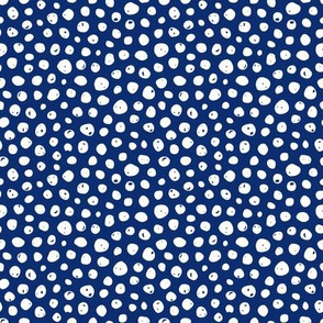 Dots on solid dark blue