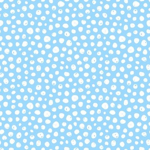 Dots on solid light blue
