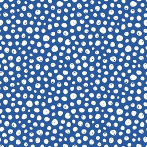 Dots on solid evening blue