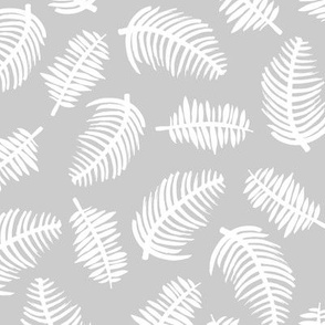 Tropical summer palm leaves garden pastel gray