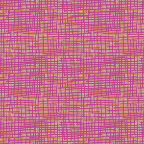Crosshatch Red Violet, Orange and Griege