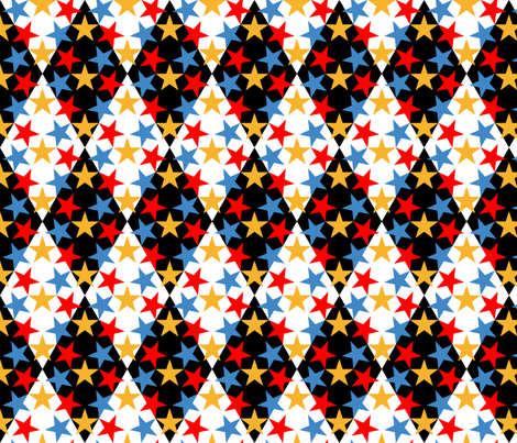 06501039 : U53 V1 : harlequin at the magic circus fabric by sef on Spoonflower - custom fabric