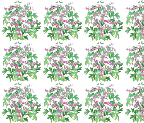 bleeding heart_bush2 fabric by khowardquilts on Spoonflower - custom fabric