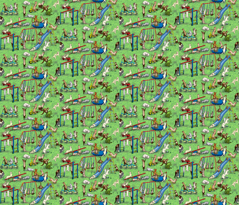 The_Play_Ground fabric by deva_kolb on Spoonflower - custom fabric