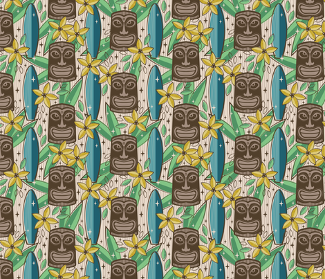 Tiki Garden fabric by robyriker on Spoonflower - custom fabric