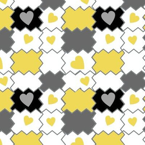 Putting the Pieces Back 2gether Again-yellow/ gray