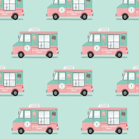 ice cream trucks  fabric by littlearrowdesign on Spoonflower - custom fabric
