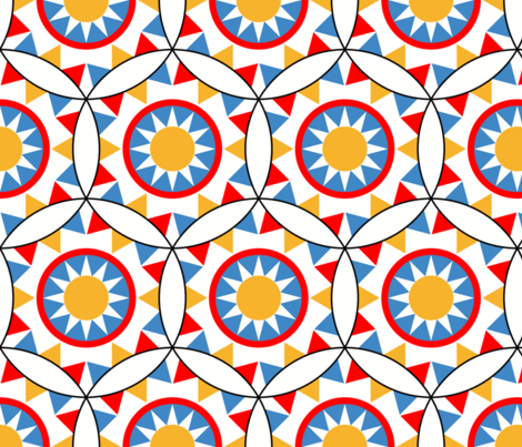 06501830 : circus bunting + ring of sunshine fabric by sef on Spoonflower - custom fabric
