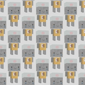 Little sweet yellow robot
