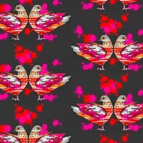 Red Pigeons