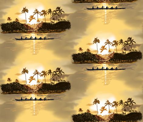 Hawaii at Sunset  fabric by house_of_heasman on Spoonflower - custom fabric