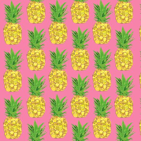 Pineapple Pop Pink fabric by katsillustration on Spoonflower - custom fabric