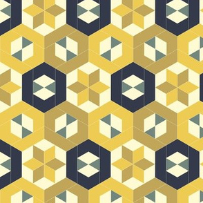 Bayeux Hexagon Stars and Diamonds 3