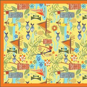 Mid Century Hawaii Tea Towel